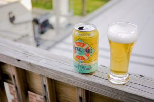 crystal lake brewing beach blonde lager