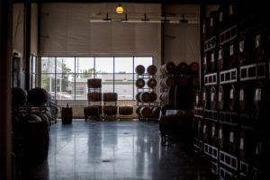 great divide barrel room
