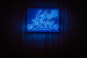 half acre neon sign